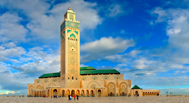 The airport is located 30 kilometres south-east of Casablanca